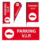 Signaletique Parking VIP  - Modèle 3