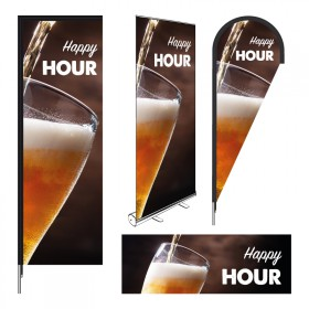 PLV imprimée Happy Hour